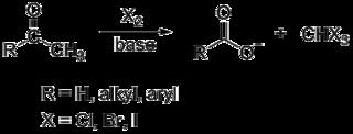 Haloform reaction chemical reaction