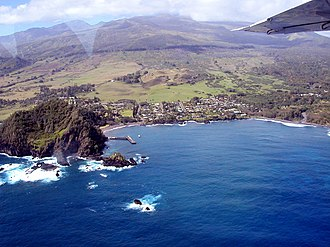 Hana, Hawaii - Aerial view of Hana, Maui
