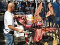 Hanging Meat at a Street Fair 2.JPG
