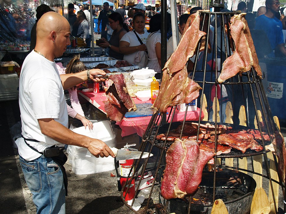 Hanging Meat at a Street Fair 2