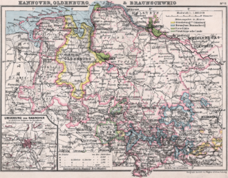 Province of Hanover - Hannover, Oldenburg, Brunswick (1905)