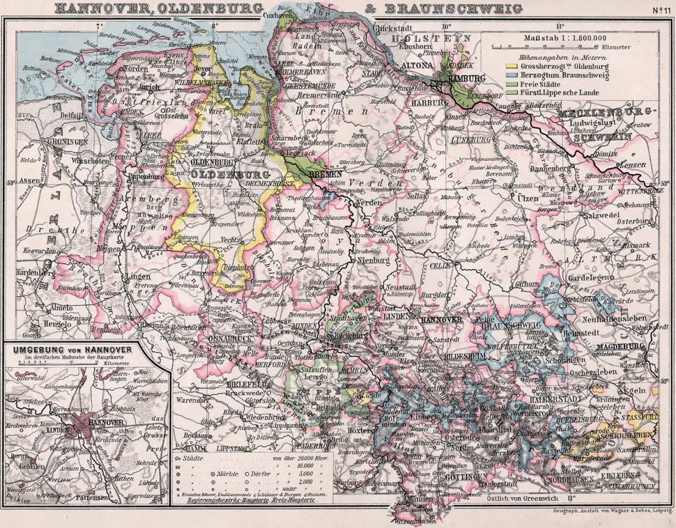 Hannover Oldenburg Braunschweig 1905