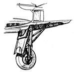 Hanriot 220 landing gear drawing L'Aerophile December 1936.jpg