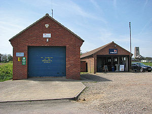 Happisburgh - Happisburgh lifeboat station and RNLI shop.