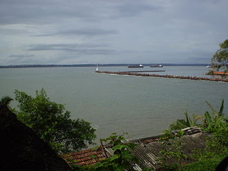 Mormugao - Breakwater at Mormugao Harbour
