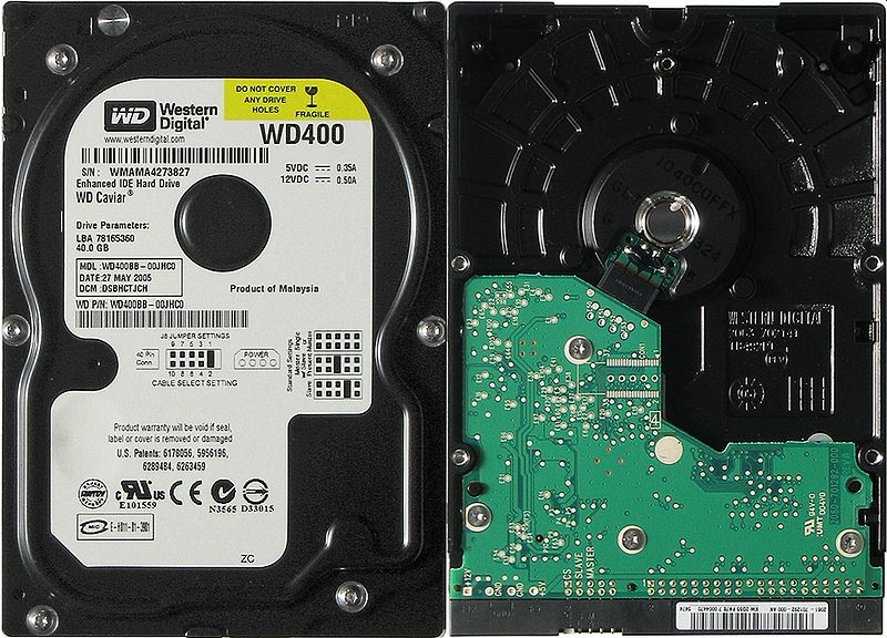 File:Hard disk WD 400.jpg