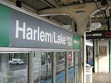 Harlem/Lake station - Wikipedia