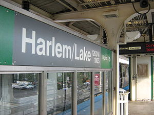 Harlem/Lake station - Image: Harlem Lake Station