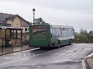 Wetherby bus station - Image: Harrogate Coach Travel bus at Wetherby bus station (13th September 2010)