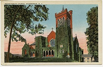 Haverstraw, New York - Central Presbyterian Church on a vintage postcard
