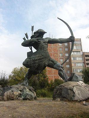 Hayk - Statue of Haik Nahapet in Yerevan, Armenia