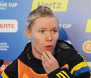 Hedvig Lindahl - Lindahl at the 2015 Algarve Cup