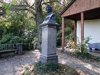 Tharandt Forest - Bust of Heinrich Cotta, sponsor of the Tharandt Forest