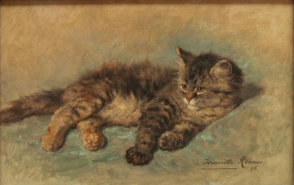 Katje by Henriëtte Ronner-Knip, 1896