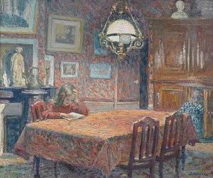 Henri Lebasque - Image: Henri Lebasque Sous la lampe Musée des beaux arts de Nancy