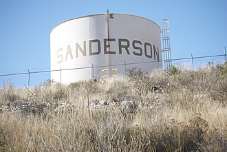 Sanderson, Texas - Image: Hiking in Sanderson Water Tower