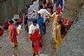 Hindu religious celebration on the banks of Hooghly River in Kolkata, India.jpg