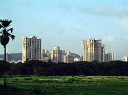 View of Powai from across the Powai lake