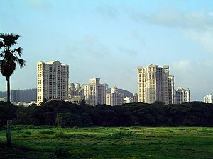 Powai - View of Powai from across the Powai lake