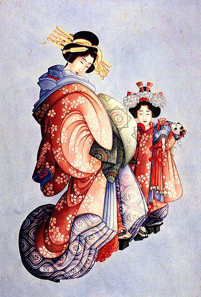 File:Hokusai Oiran and Kamuro.jpg