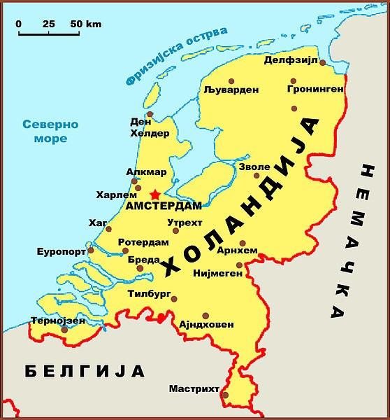 Holandija mapa