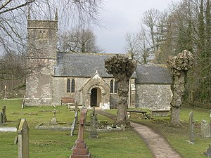 Church of St Andrew, Holcombe - Image: Holcombe Old St Andrews church