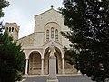 Holy Land 2018 (2) P050 Jerusalem Saint Etienne Monastery Saint Stephen statue.jpg