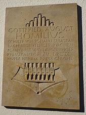 Gedenktafel für G.A. Homilius (Quelle: Wikimedia)