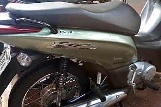 Flexible-fuel vehicle - The Honda Biz 125 flex is one of the five flex-fuel motorcycles available in Brazil