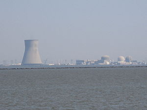 Salem Nuclear Power Plant - The entire PSEG nuclear complex as seen from Augustine Beach, Delaware