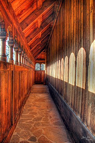 Hjemkomst Center - Interior of Hopperstad stave Church replica