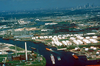 Houston Ship Channel - The Buffalo Bayou portion of the Houston Ship Channel
