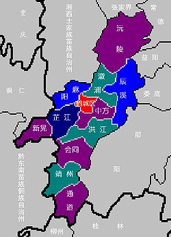 Location in Huaihua City