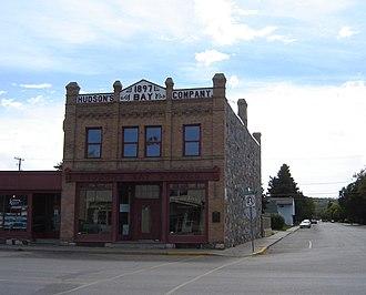 Saskatchewan Highway 35 - 1897 Hudson's Bay Company store in Fort Qu'Appelle