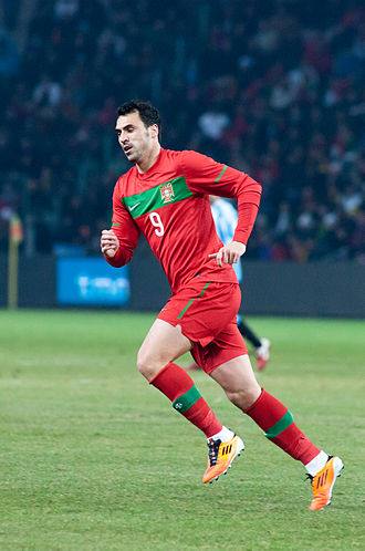 Hugo Almeida - Almeida playing for Portugal in 2011