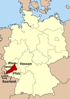Hunsrück low mountain range in Germany