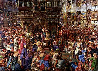 Holy Fire - The Miracle of the Holy Fire, by William Holman Hunt