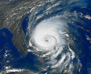 English: Hurricane Dennis on August 28, 1999. ...