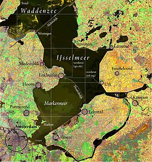 Markerwaard - The Markerwaard would be on what is now the Markermeer