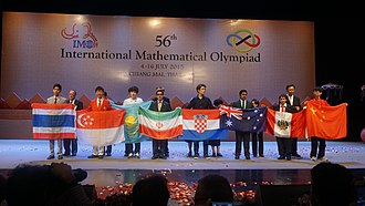 International Mathematical Olympiad - Some of gold medal contestants during the IMO 2015 closing ceremony, Chiang Mai Thailand