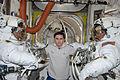 ISS-33 American EVA 00 Akihiko Hoshide, Yuri Malenchenko and Sunita Williams.jpg