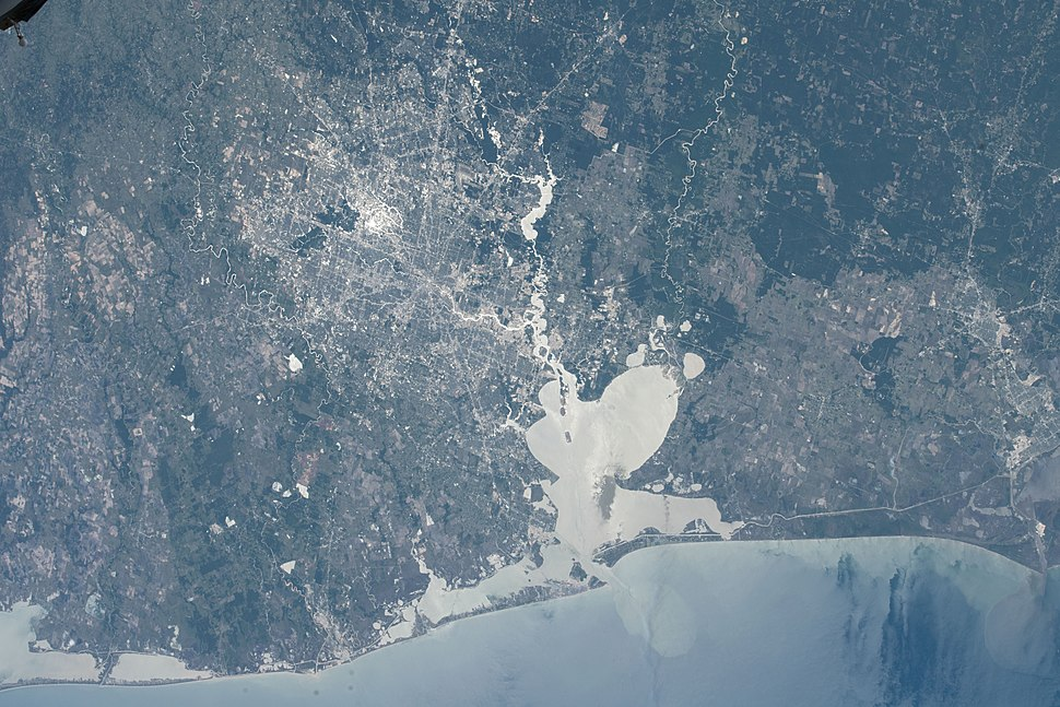ISS-55 Houston, Texas and Galveston Bay