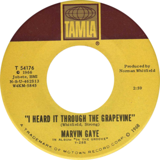 I Heard It Through the Grapevine 1966 song written by Norman Whitfield and Barrett Strong