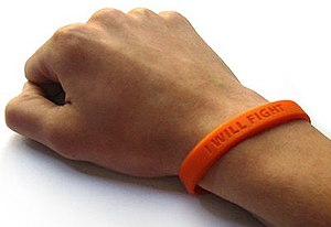 Absolutepunk's leukemia wristband. Photo by Fr...