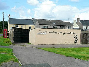 English: I can't vandalize... ...but I have go...