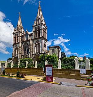 Santa Tecla, El Salvador - Cathedral del Nuestra Señora del Carmen in downtown Santa Tecla
