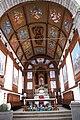 Igreja de Nossa Senhora das Angústias, pormenor dos brasões do tecto, Angustias, concelho da Horta, ilha do Faial, Açores, Portugal.JPG