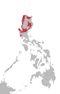Ilokano language map.png