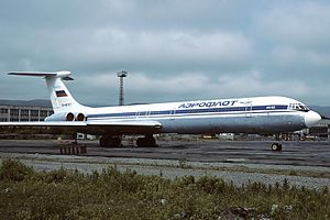 Petropavlovsk-Kamchatsky Airport - Aeroflot Ilyushin Il-62 stored at Petropavlovsk-Kamchatsky Airport.