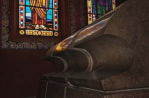 Solomonic dynasty - Imperial sarcophagus of the Solomonic dynasty King Haile Selassie I at the Holy Trinity Cathedral.